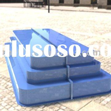 Big fiberglass swimming pool