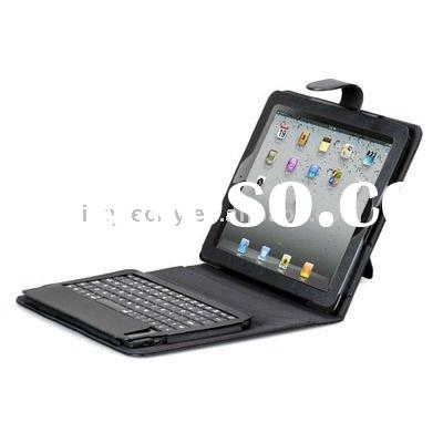 Black Bluetooth Wireless Keyboard and Leather Case for Apple iPad 2