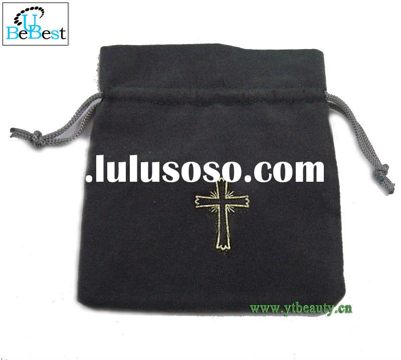 Black Drawstring Rosary Pouch/Bag