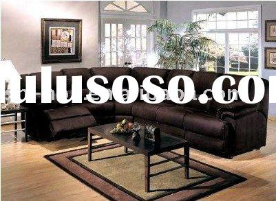 Brown Microfiber Recliner Sectional Sleeper Sofa(xian226)