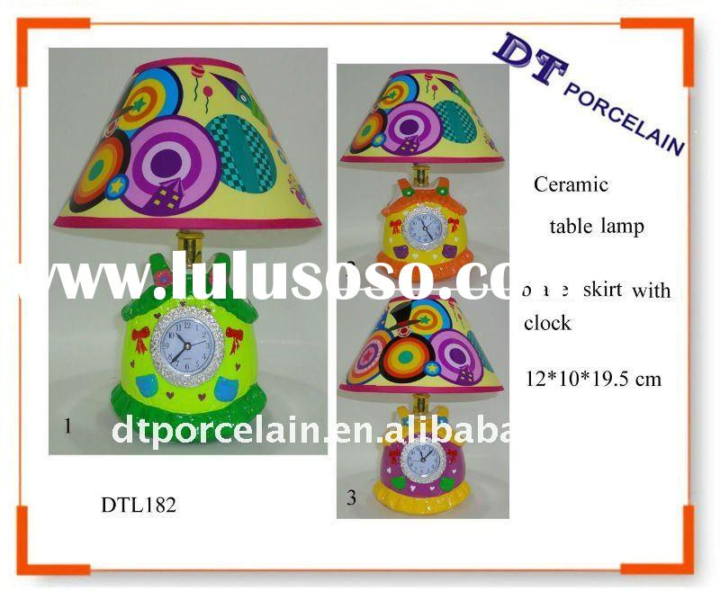Table Lamp With Clock Ceramic Table Lamp With Clock