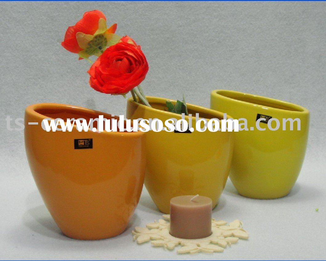 Ceramic garden flower pot of modern design ( TS1041)