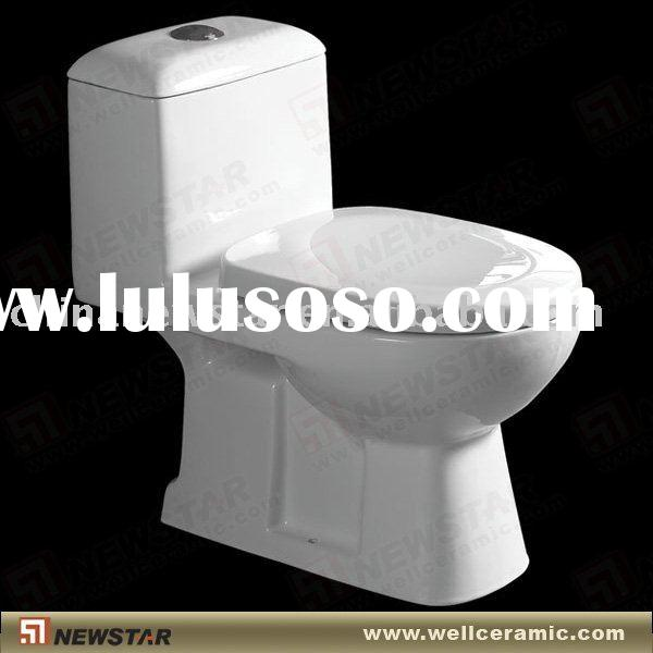 Ceramic push button toilet flush