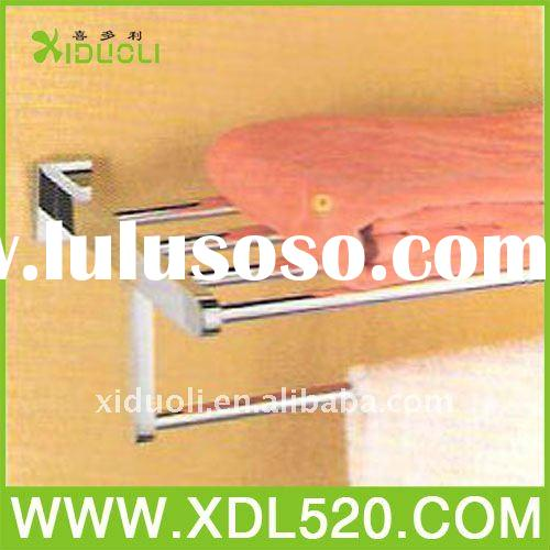 Chinese Toilet Home Western Copper Chromium Wall Mounting CE Approved Towel Shelf With Bar