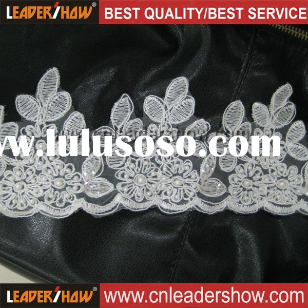 Chinese White & Ivory Embroidery Lace Trim