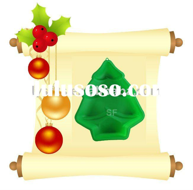 Christmas used silicone cake molds