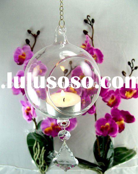Clear Hanging Glass Tealight Candle Holder