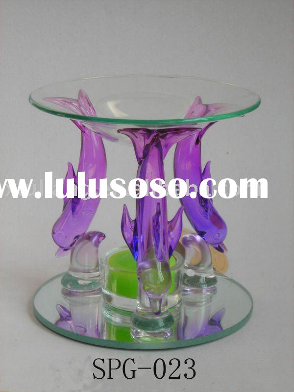 Colorful dolphin glass incense Oil burner