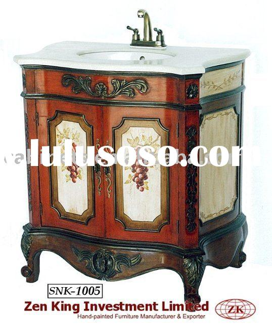 Country Style Wooden Bathroom Sink Cabinet