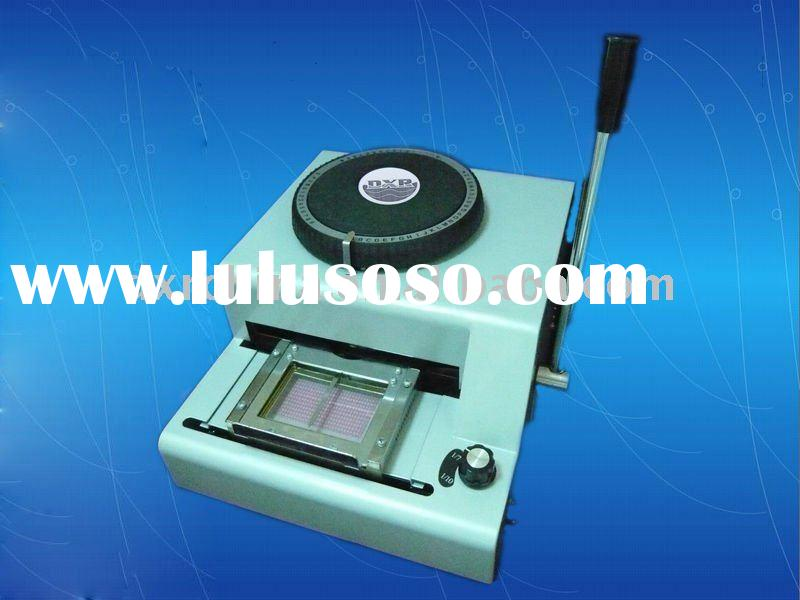 credit card automatic embosser tipper credit card
