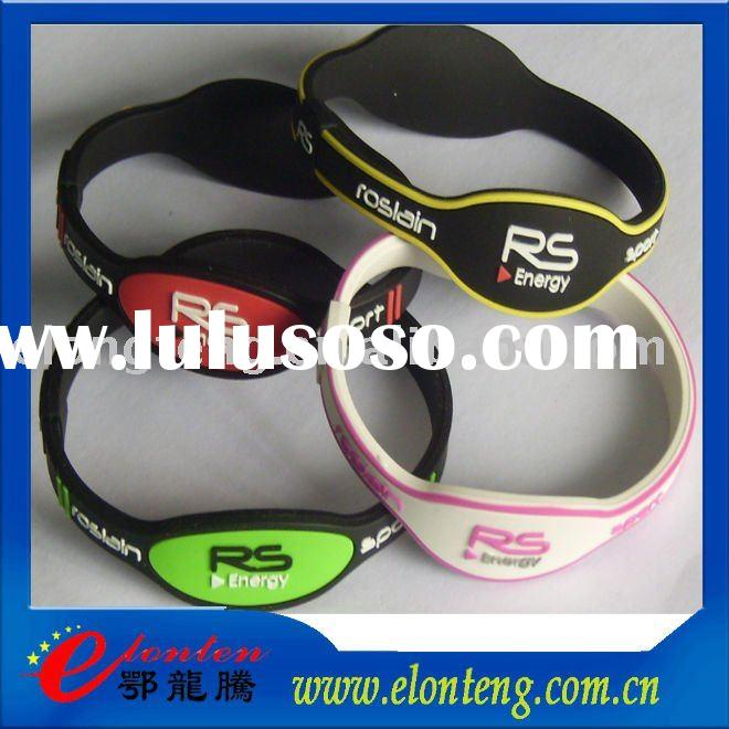 Custom power silicon band, body balance bracelet