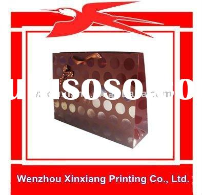 Customized Paper Chocolate Gift Bag with Ribbon