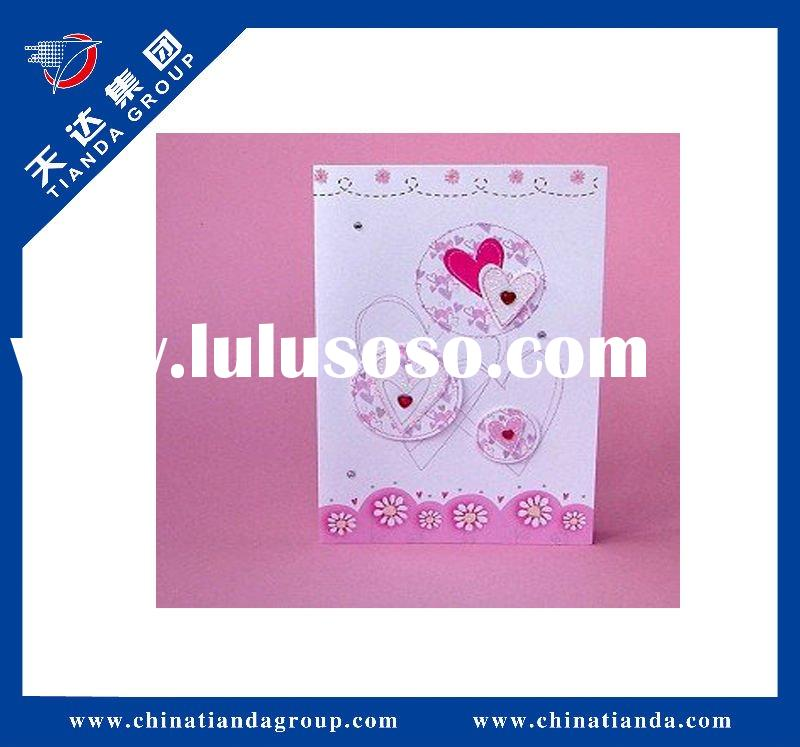 Cute handmade love shape greeting card for vanlentine's day
