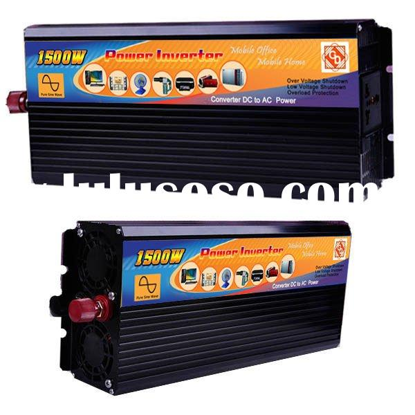 DC to AC 1500w Pure Sine Wave Power Inverter 12V 220V
