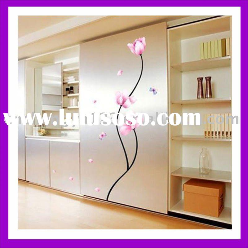 wall decoration stickers wall decoration stickers wall stickers romantic bedside sticker decoration lily