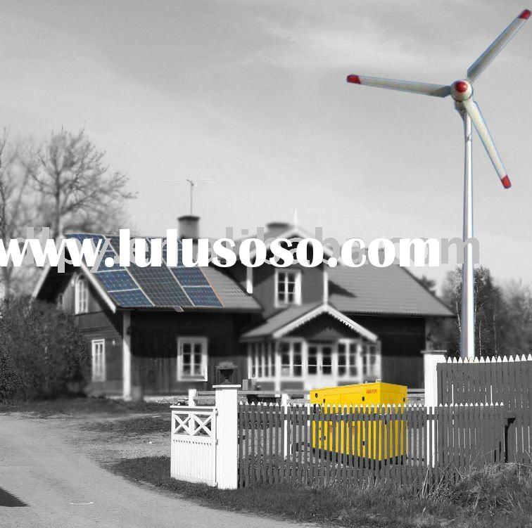 Diesel and Solar Combined Wind Turbine Generator