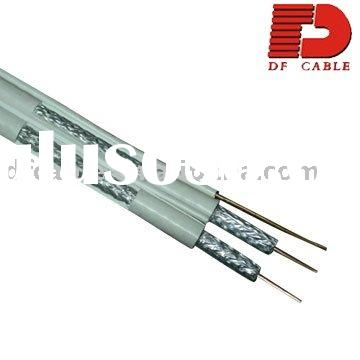 Double RG6 Dual Messenger Coaxial Cable