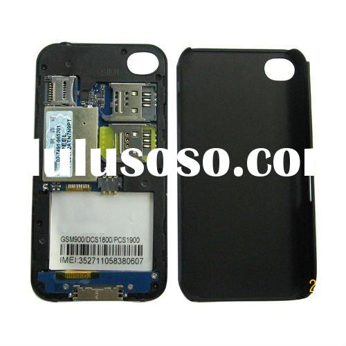 Dual SIM Card Power pack back Case for iPhone 4G
