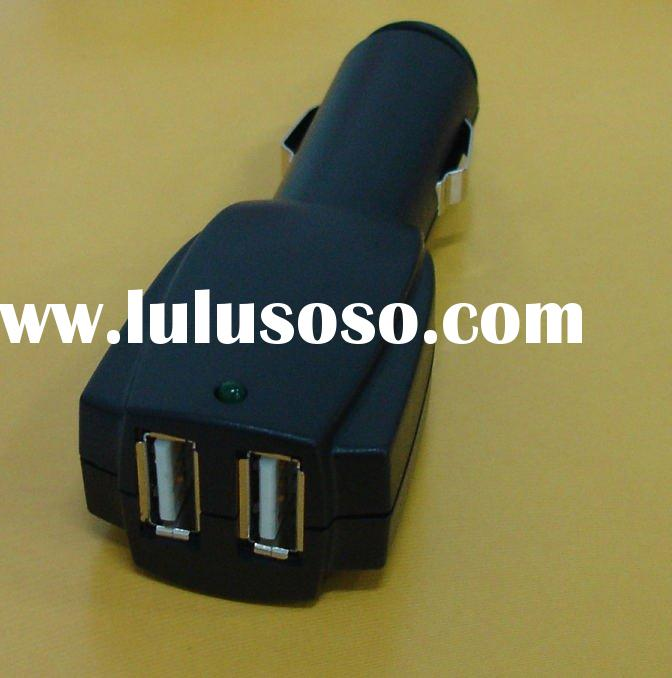 Dual USB Car Charger for iPod, iPhone, Zune, MP4