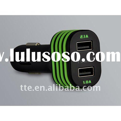 Dual USB car charger for iphone 4/4s