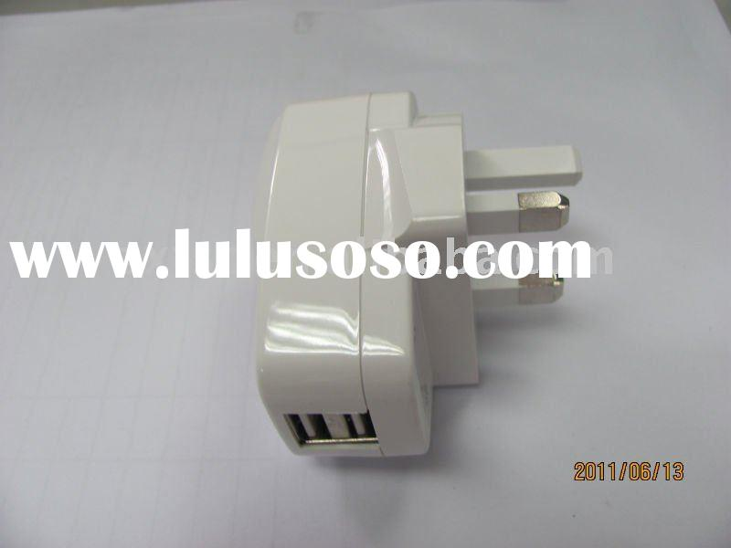 Dual USB travel charger for ipod/iphone