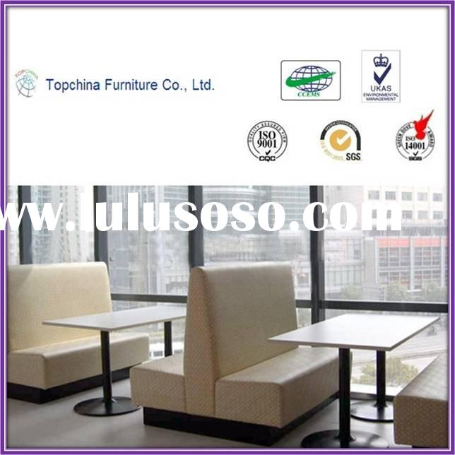 Durable modern Restaurant Booth Sofa and Table Furniture THH-015
