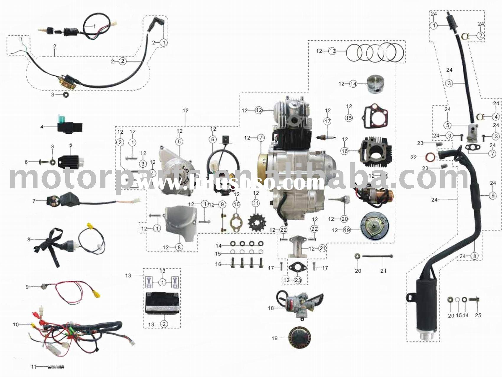 Kazuma 110cc Atv Wiring Diagram Chinese Diagrams Remote Engine Parts Assy