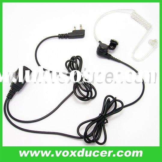 Earphone with clear tube for Icom two way radio IC-F43GS IC-F43GT IC-F43TR
