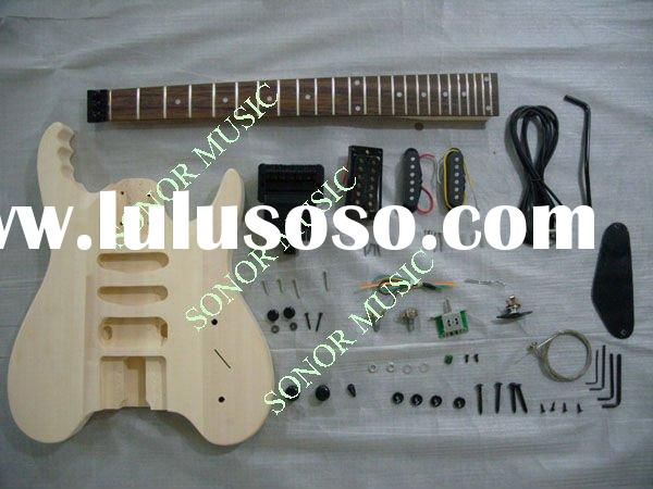 guitar kits electric diy garan wood desk. Black Bedroom Furniture Sets. Home Design Ideas