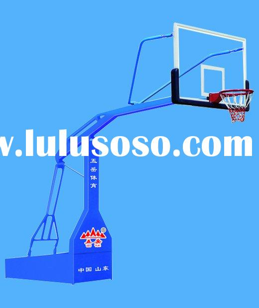 Electric hydraulic basketball hoop
