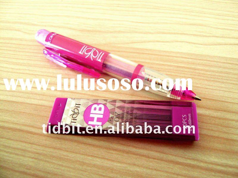 Eraser on top plastic cute mechanical pencil 0.7mm