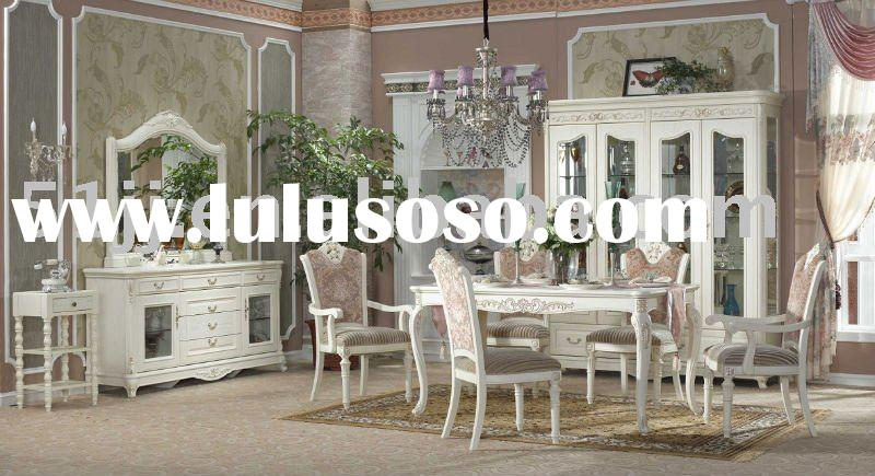 European style solid wood home furniture dining room set TBN-BJ-8021
