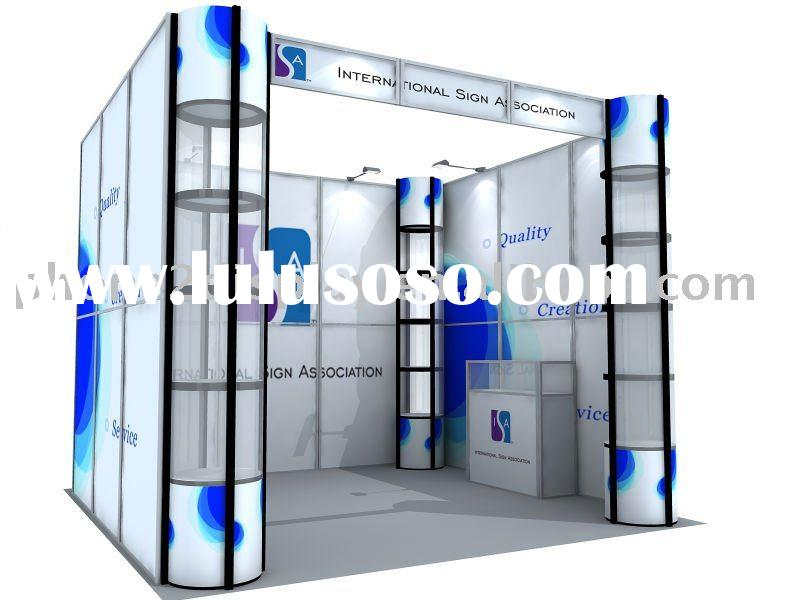 Exhibition Portable Booth, Reusable and easy carrying in one wood case