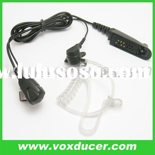 FBI style Covert Acoustic tube headset with microphone for Motorola two way radio T5800 T5820 T5920