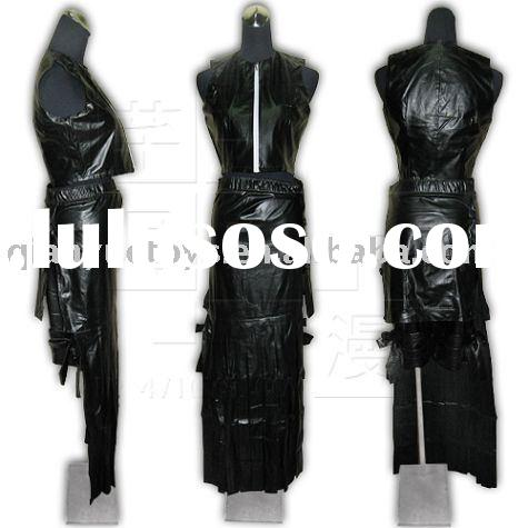 FINAL FANTASY 7 LEATHER COSPLAY CLOTHING(GIRLS)