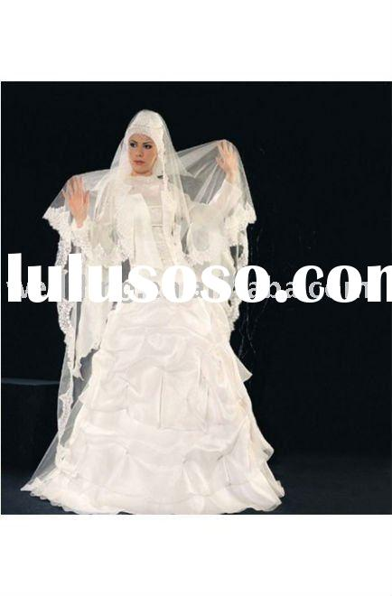 Famous Designer Attractive Muslim Wedding Gown 2011