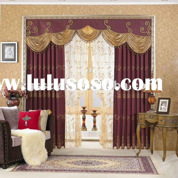 Fashion Curtain/Ready Made Motorized/Manual Retractable Curtain/window curtain