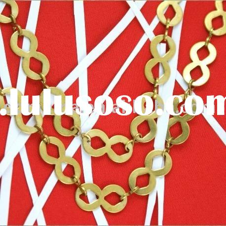 Fashion jewelry components brass handmade costume decorative chain