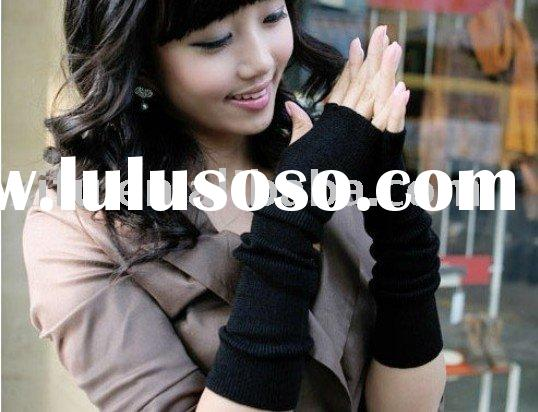 Fingerless gloves knitting pattern arm sleeve,ladies' cotton knitted glove