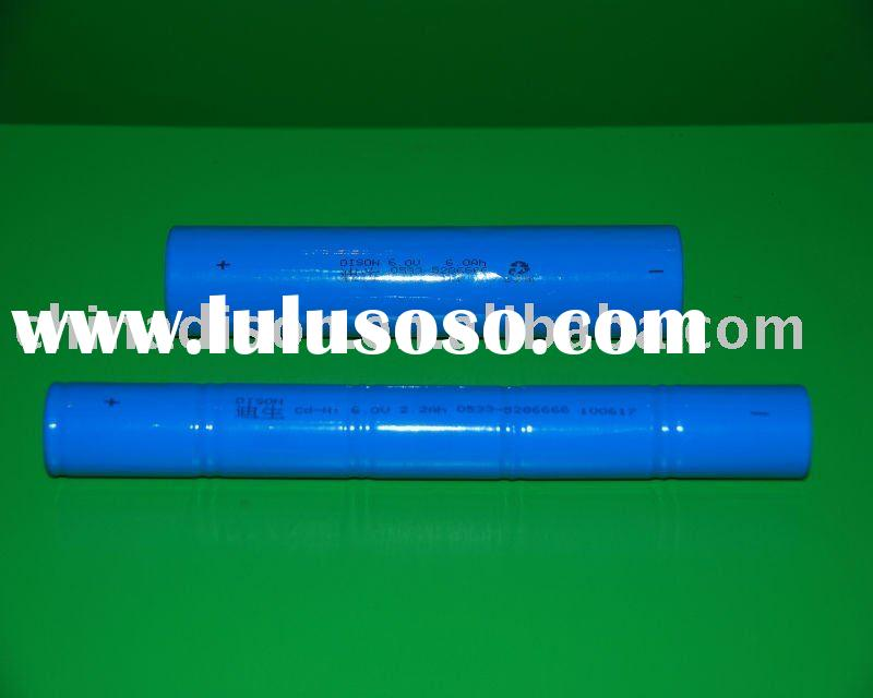 Flashlights 6v 2500mAh C NiCd rechargeable battery pack 2C~3C discharge rate