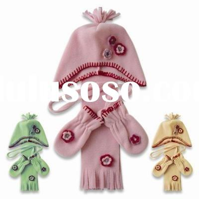 Fleece hat scarf gloves set-C01OEM003595