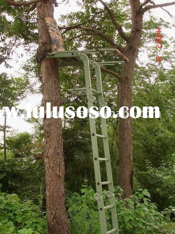 Telescoping Retractable Ladder Tree Stand