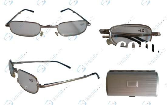 Folding reading glasses with case (BRM2460C)