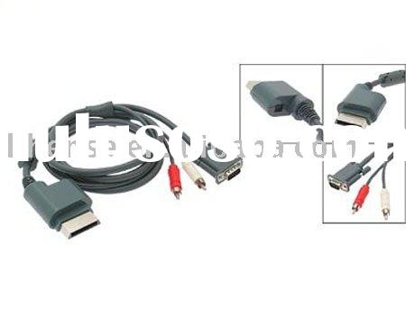 For XBOX 360 VGA HD AV Cable