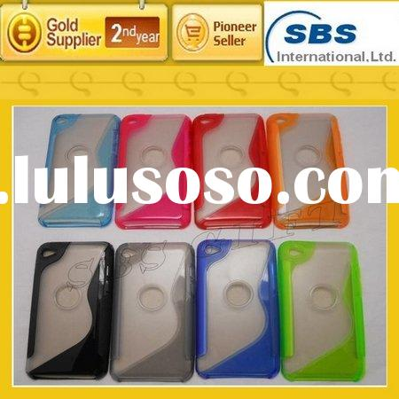 For ipod Touch 4 case, TPU+PC with stand design