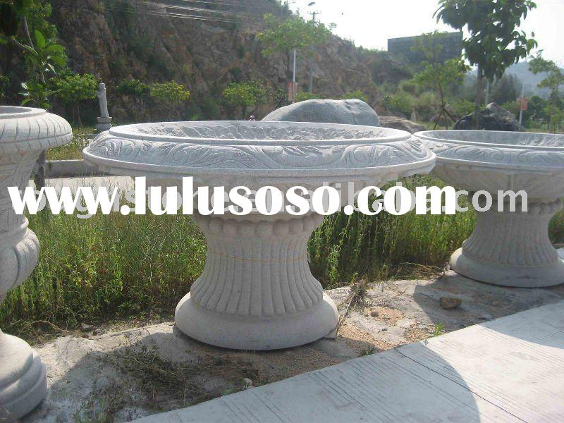 GRANITE GARDEN FLOWER POT