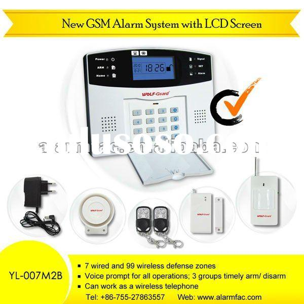 GSM wireless home business security Alarm System with intercom