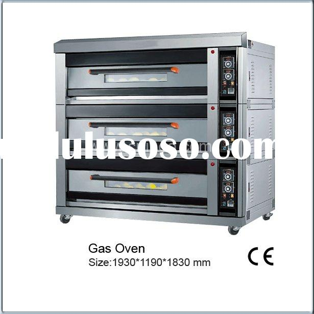 Gas Baking Oven (3 decks 9 trays)Bakery Equipment/Kitchen Equipment/Kitchen Project