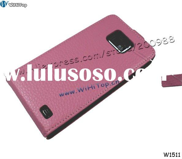 Genuine Leather Case Cover for Samsung Galaxy S2 i9100. Real Skin Leather Cover for Galaxy S2