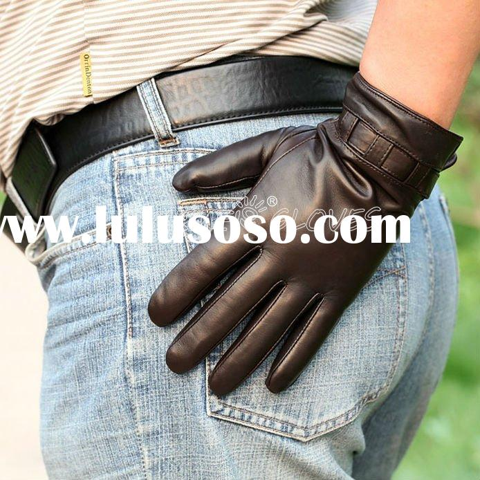 Genuine Sheep Leather,New Style for Men's Leather Gloves